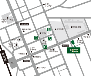 PECO周辺駐車場